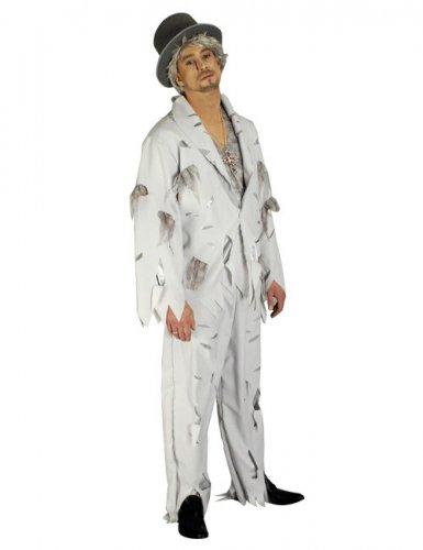 Zombiebräutigam Halloween-Kostüm weiss-grau