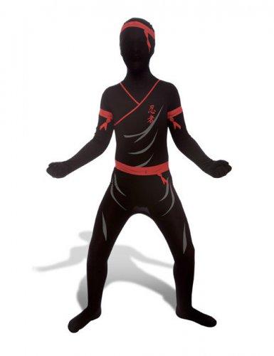 Morphsuit Kinderkostüm Ninja schwarz-rot-grau
