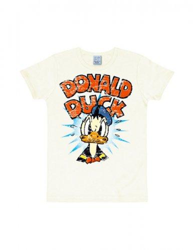Disney T-Shirt Donald Duck Fanshirt Slim Fit weiss-bunt