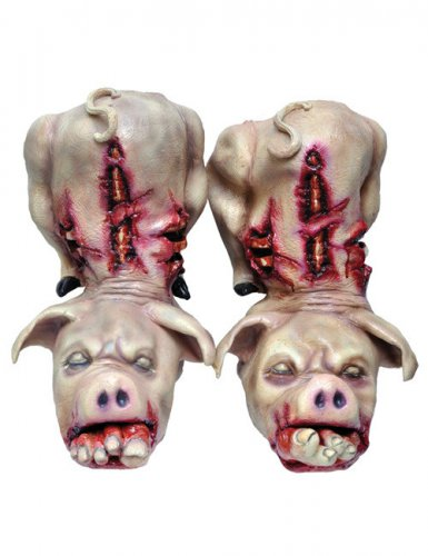 Schweine Schuhe Halloween Schuhstulpen rosa-rot