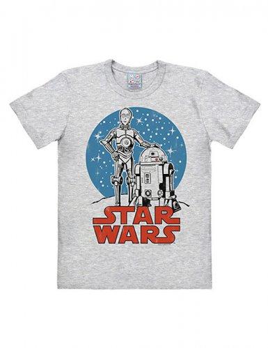 Star Wars T-Shirt Droids Easy Fit grau-blau-rot