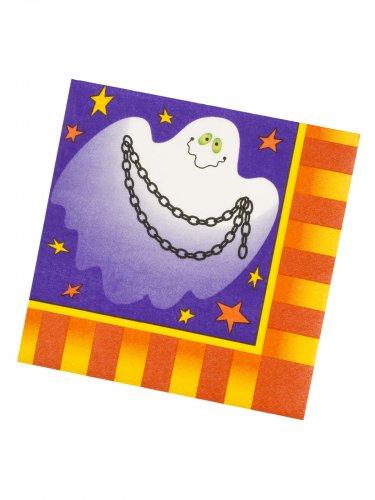 Halloween Kinderparty Pappgeschirr 20 Servietten 33x33cm bunt