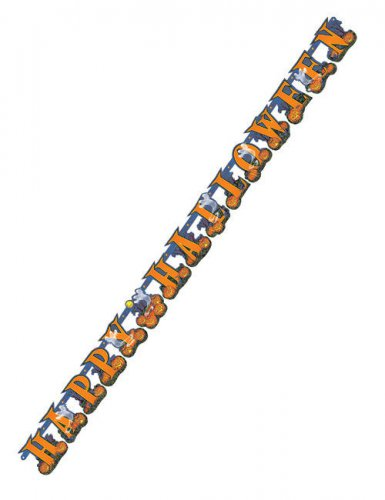 Happy Halloween Buchstaben Banner Party-Deko orange 213x17cm