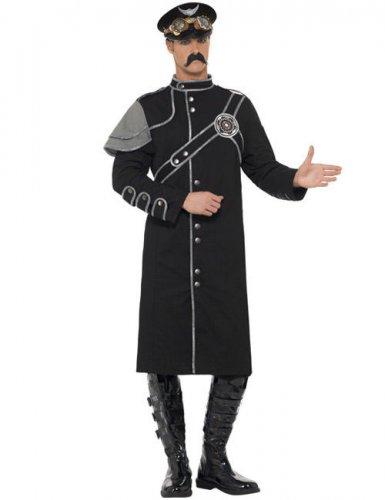 Steampunk Offizierskostüm für Herren schwarz-grau