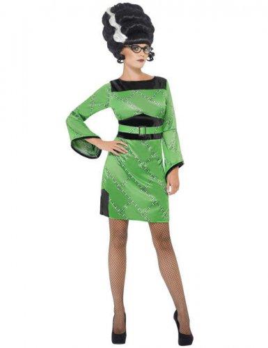 Frankenstein Girl 50er-Damenkostüm grün-schwarz