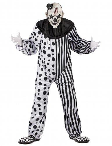 Horror-Clown Halloween-Kostüm schwarz-weiss