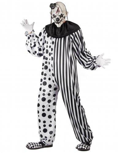 Horror-Clown Halloween-Kostüm schwarz-weiss-1