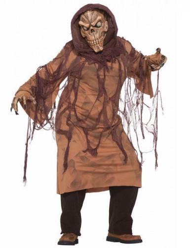Moorleiche Skelett Halloween-Kostüm braun