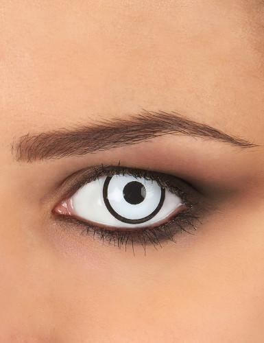 Kontaktlinsen Manson weiss-schwarz