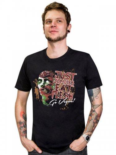 Vegan T-Shirt - Just Zombies eat Flesh