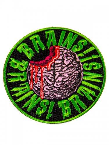 Kreepsville Gothic Patch Brains schwarz-grün-rosa