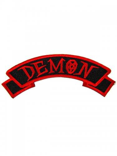 Kreepsville Gothic Patch Demon schwarz-rot