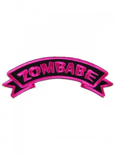 Kreepsville Gothic Patch Zombabe schwarz-pink