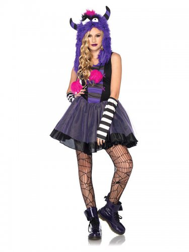 Punk Monster Teen-Kostüm bunt