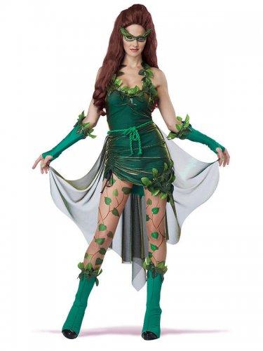 Sexy Waldhexe Damen-Kostüm für Halloween grün