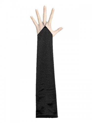 Handschuhe lang fingerlos schwarz
