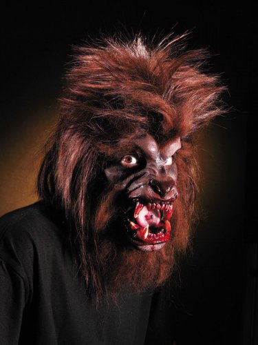 Latexapplikation Werwolf Halloween braun