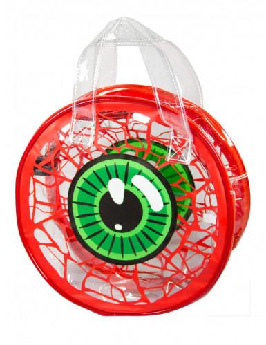 Kreepsville Augen-Handtasche weiss-grün-rot