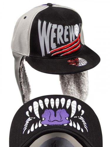 Kreepsville Gothic Baseball Cap Werewolf schwarz-lila-grau