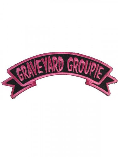 Kreepsville Gothic Patch Graveyard Groupie pink-schwarz