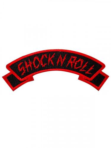 Kreepsville Gothic Aufnäher Shock n Roll schwarz-rot