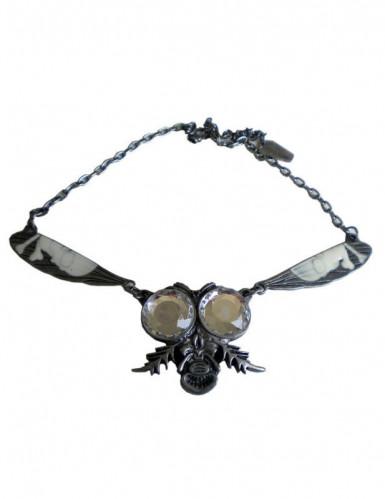 Kreepsville Halskette mit Fliege Gothic silber