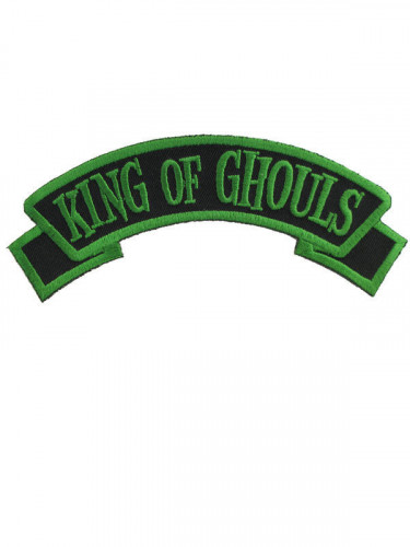 Kreepsville Gothic Patch King of Ghouls schwarz-grün