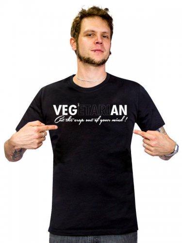Vegan T-Shirt - VEG(etari)AN Cut The Crap Out