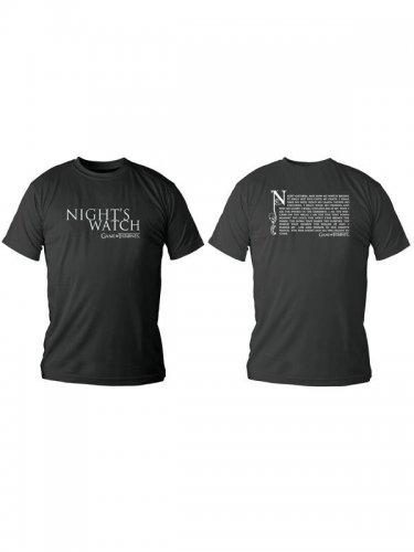 Game of Thrones T-Shirt Nights Watch Lizenzware schwarz-weiss