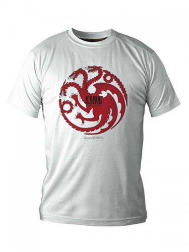 Game of Thrones T-Shirt Targaryen Lizenzware weiss-rot