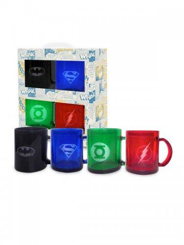 DC™-Tassen 4 Stück Superhelden bunt