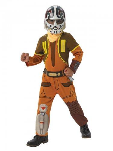 Ezra-Kinderkostüm Star Wars Rebels™-Lizenkostüm orange-braun
