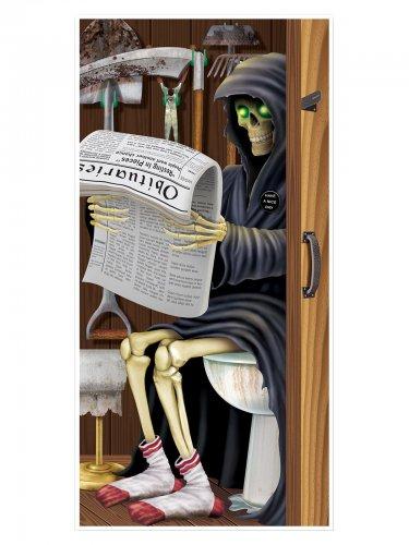 Sensenmann WC Tür-Poster Halloween Party-Deko bunt 76x152cm