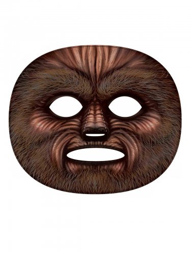 Werwolf Gesicht Tattoo Halloween braun