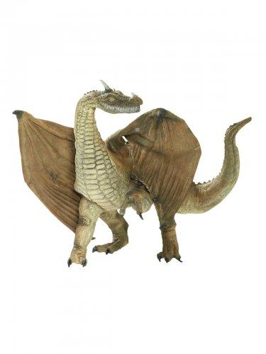 Drache mit Flügeln Deko-Figur zu Halloween grün 48cm