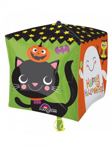 Happy Halloween Folien-Luftballon Halloween Party-Deko bunt 38x38cm