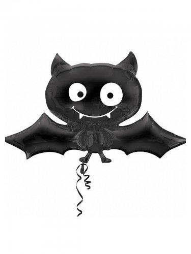 Süsse Fledermaus Folien-Luftballon Halloween Party-Deko schwarz 104x60cm