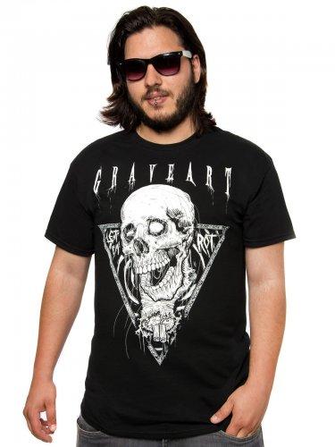 GraveArt Let 'Em Rot T-Shirt schwarz-weiss