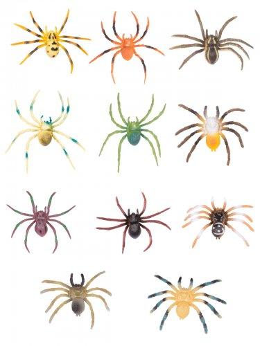 Spinne Tarantel Halloween Partydeko bunt 8,5x6x0,5cm