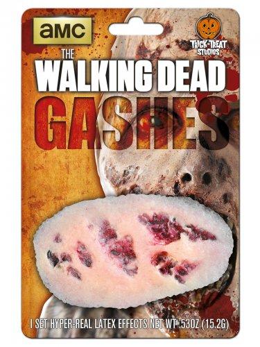 The Walking Dead Blutige Wunde Latex-Applikation Lizenzartikel beige-rot