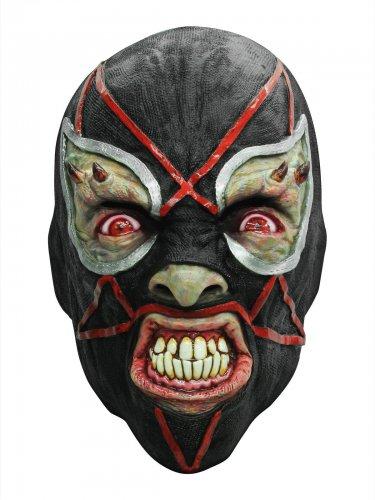 Teuflischer Luchador Halloween Latex-Maske Wrestling schwarz-rot