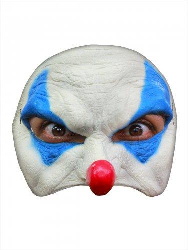 Horrorclown-Maske Halloween-Maske weiss-blau-rot