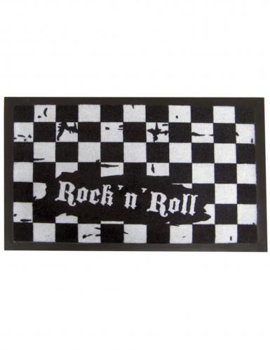 Fussmatte Rock n Roll schwarz-weiss 40x60cm