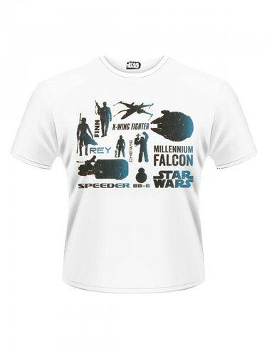 Star Wars™-T-Shirt Die helle Seite der Macht weiss-blau