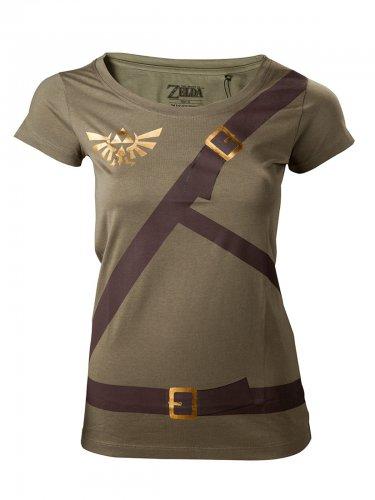 Zelda Girlie-Shirt Link Lizenzware grün-braun