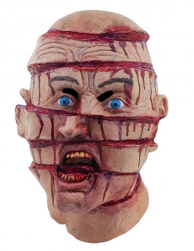 Zerteilter Kopf Halloween Horror-Maske Kostüm-Accessoire bunt