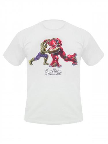 Avengers™-T-Shirt Hulk und Hulkbuster Lizenzware weiss-bunt