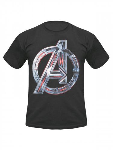 Avengers Age of Ultron T-Shirt Logo schwarz-bunt