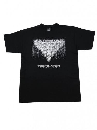Terminator Genisys T-Shirt Totenschädel Armee Lizenzware schwarz-weiss