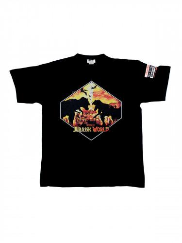 Jurassic World™-T-Shirt Dino Silhouetten Lizenzware schwarz-gelb